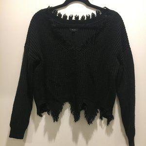 EUC Black Cropped Sweater